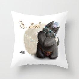 Mr. Bubo Throw Pillow