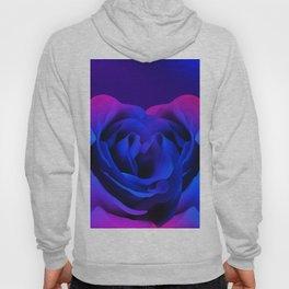 Blue Neon Rose Hoody