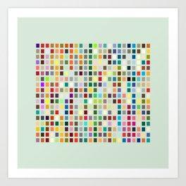 Geometric palette Art Print