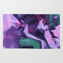 Restless Unicorn. Dynamic Purple and Teal Abstract. Rug