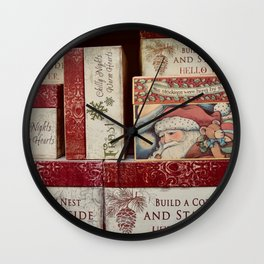 Christmas design with gift boxes Wall Clock