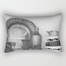 Pottery still life Rectangular Pillow