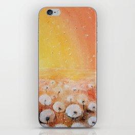 Sunrise and Dandelions, Watercolor iPhone Skin