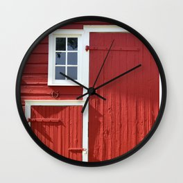 Red Barn Wall Clock