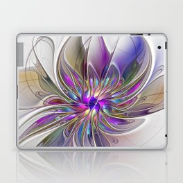 Energetic, Abstract And Colorful Fractal Art Flower Laptop & iPad Skin