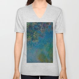 Claude Monet Wisteria Unisex V-Neck
