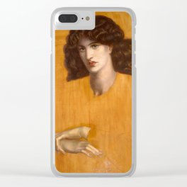 Dante Gabriel Rossetti, The Lady of Pity, 1881 Clear iPhone Case