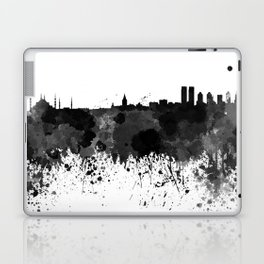 Istanbul skyline in black watercolor Laptop & iPad Skin