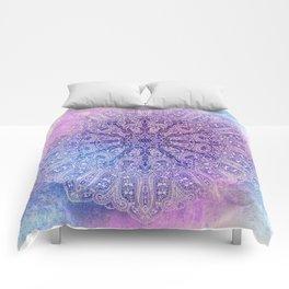 big paisley mandala in light purple Comforters