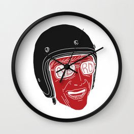 Helmet boy Wall Clock