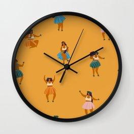 Hula party Wall Clock