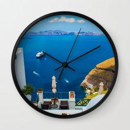 Santorini ii Wall Clock