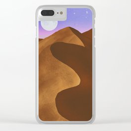 At night in the desert Clear iPhone Case