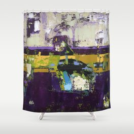 Controversy Prince Deep Purple Abstract Painting Modern Art Shower Curtain