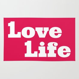 One Love, One Life, Love Life (red) Rug