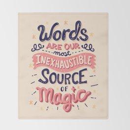 Source of Magic Throw Blanket
