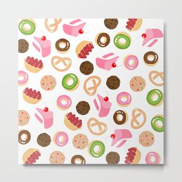 donut & cake & cookies Metal Print