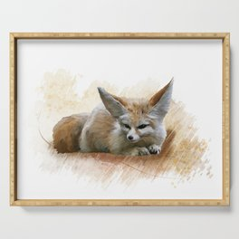 Digital Painting of Fennec Fox resting Serving Tray