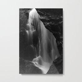 Black and white waterfall long exposure Metal Print