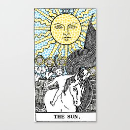 Modern Tarot Design - 19 The Sun Canvas Print
