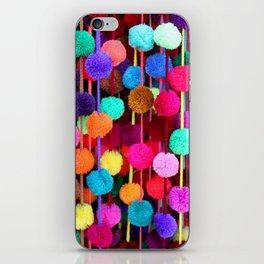 Rainbow Pom-poms (Horizontal) iPhone Skin