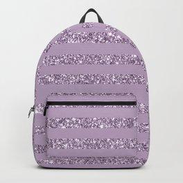 Lavender Glitter Stripes Backpack