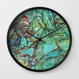 The Aquamarine Labyrinth (detail no. 3) Wall Clock