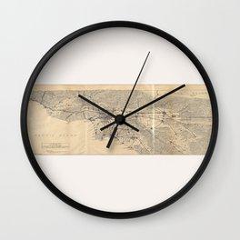 Vintage 1915 Los Angeles Area Map Wall Clock