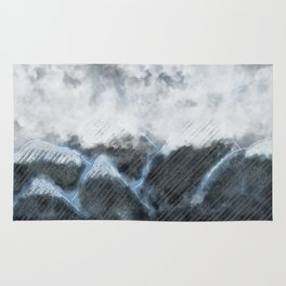 Stormy Mountains Rug