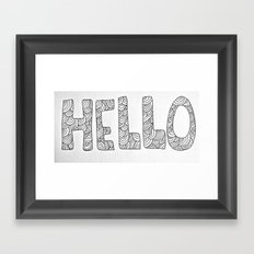Wavy Hello Framed Art Print