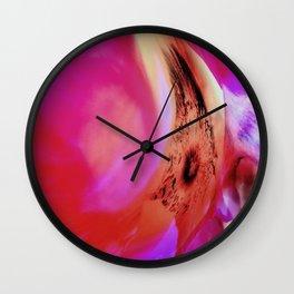 Abstract Of The Rosa Rugosa Wall Clock