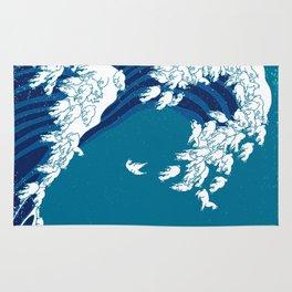 Waves Llama Rug