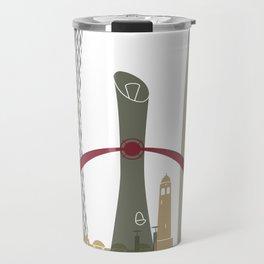 Doha skyline poster Travel Mug