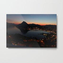 A view of Lugano Metal Print