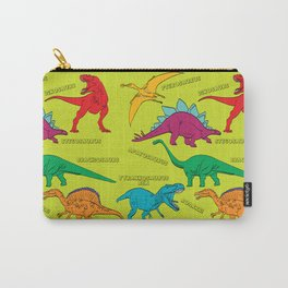 Dinosaur Print - Colors Carry-All Pouch