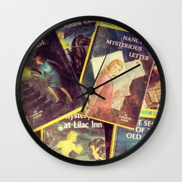 A Pile of Drews Wall Clock