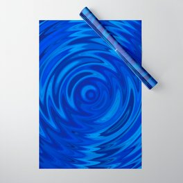 Water Moon Cobalt Swirl Wrapping Paper