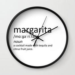 The cocktail series: 'margarita' Wall Clock