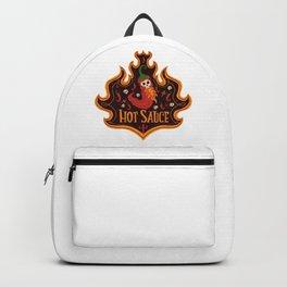 Skull Hot Sauce pepper Backpack