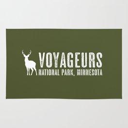 Deer: Voyageurs, Minnesota Rug