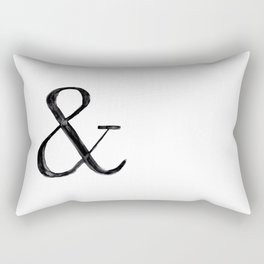 Ampersand watercolor Rectangular Pillow