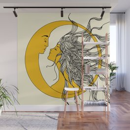 Sun and Moon Wall Mural