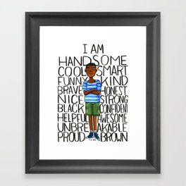 Proud to be Brown (boy) Framed Art Print