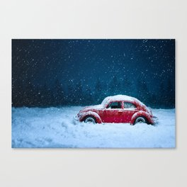 Winter Toy Car Canvas Print