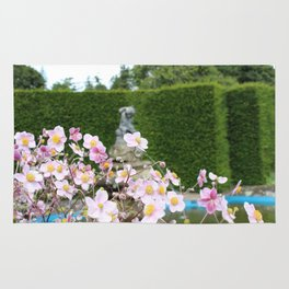 Flowers and Fountains Rug