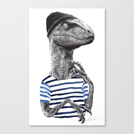 ROY THE SKATER RAPTOR Canvas Print