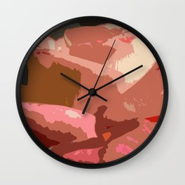 Rose Abstract Wall Clock