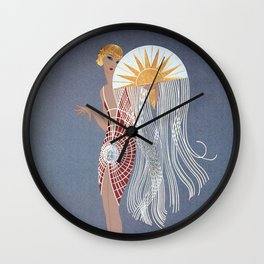 """1920's Art Deco Design """"The Flapper"""" Wall Clock"""