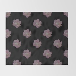 Pink and Yellow Rose Throw Blanket