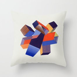 Geometric Painting by A. Mack Throw Pillow